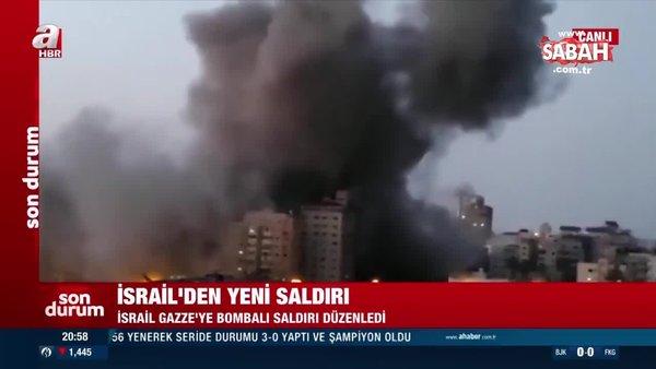 Son Dakika Haberi... İsrail Gazze Şeridi'nde bulunan 13 katlı binayı vurdu | Video