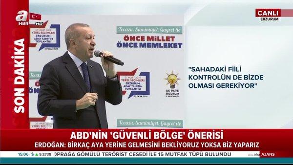 Cumhurbaşkanı Erdoğan, Erzurum adaylarını açıkladı