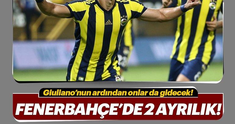 Fenerbahçe'de Giuliano'nun ardından 2 ayrılık daha var!
