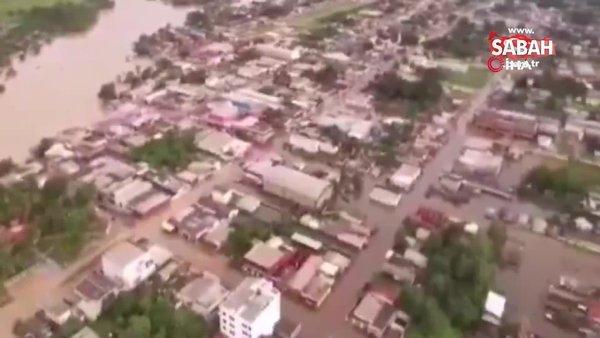 Brezilya'nın Acre eyaletinde selden 100 bin kişi etkilendi   Video
