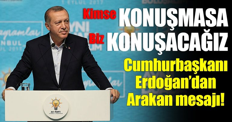 Cumhurbaşkanı Erdoğan: Arakan'ı kimse konuşmasa da biz konuşacağız