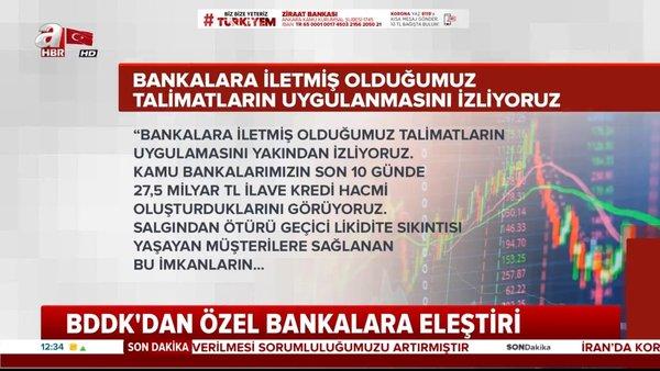 BDDK'dan özel bankalara kredi çağrısı | Video