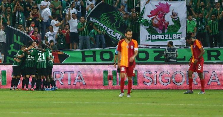 Son şampiyon Galatasaray'a Denizlispor şoku