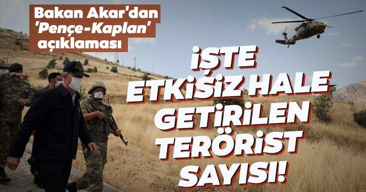 Son dakika | Bakan Akar'dan 'Pençe-Kaplan' operasyonu açıklaması: 41 terörist etkisiz hale getirildi