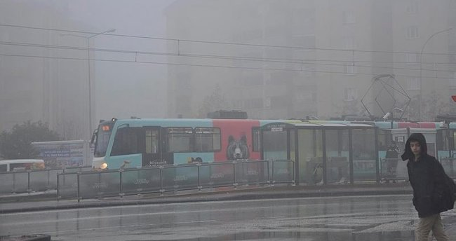 Gaziantep'te, yoğun sis etkili oldu