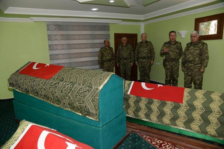 Necdet Özel Süleyman Şah'ı ziyaret etti