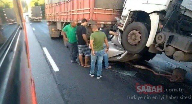 Şaşkına çevirdi! Kaza yapan bu araçtan...