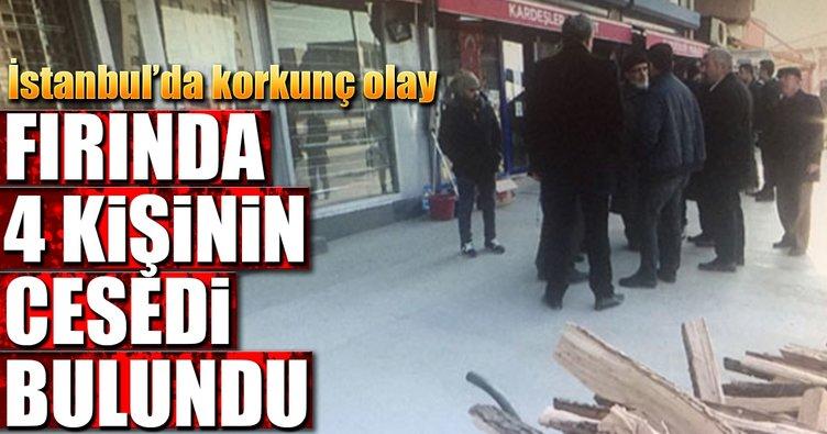 Son dakika: İstanbul'da bir fırında 4 ceset bulundu