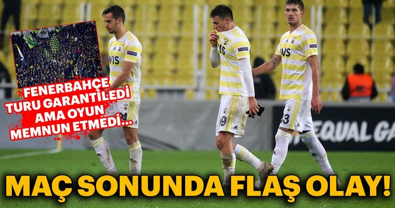 Fenerbahce was not happy after the flash event of the match!