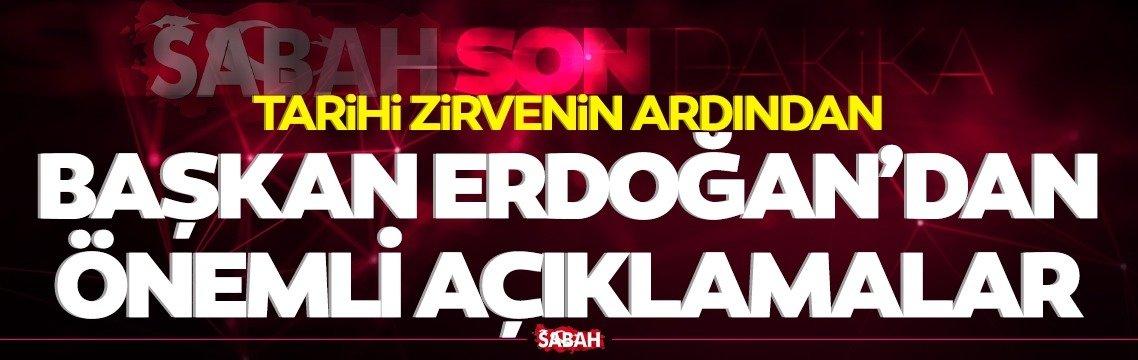 Heyetler arası görüşme sona erdi! Başkan Erdoğan'dan önemli açıklamalar