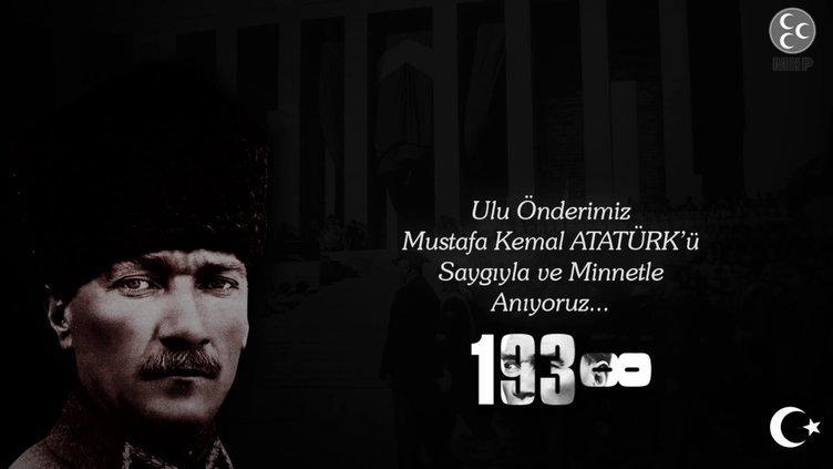 10 Kasım mesajları ve sözleri: En güzel, anlamlı, kısa ve uzun 10 Kasım Atatürk'ü Anma Günü ile ilgili mesajlar