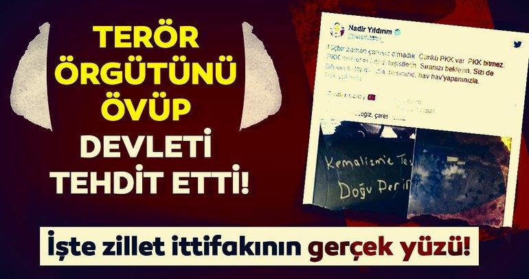 HDP'li Nadir Yıldırım'dan skandal paylaşım: Çaresiz olmadık çünkü PKK var!