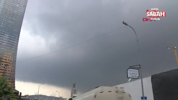 Son dakika: İstanbul'da yoğun dolu ve yağmur yağışı | Video