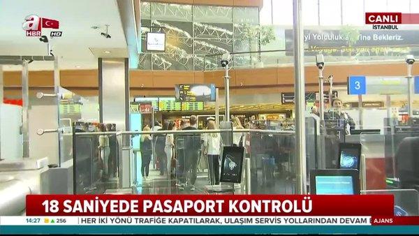 Sabiha Gökçen Havalimanı'nda pasaport kontrolünden yüz tanıma sistemiyle geçiş başladı