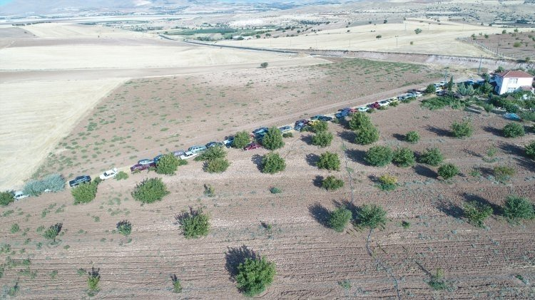Elazığlının bahçesindeki 50 otomobil herkesi şaşırtıyor!