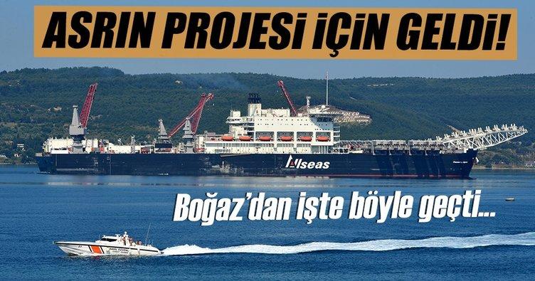 Türk Akımı için gelen dev gemi, Çanakkale'de