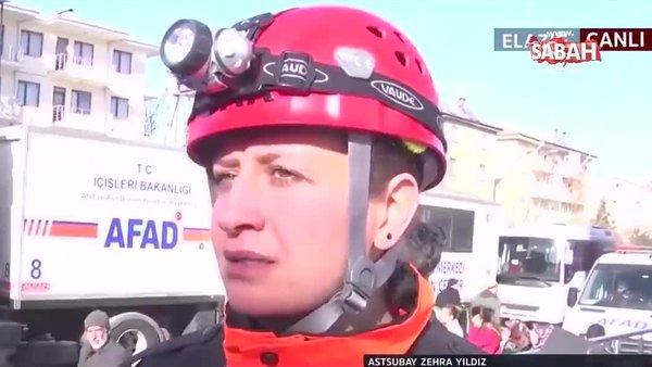 Jandarma Astsubay Çavuş Zehra Yıldız, Elazığ'da deprem bölgesindeki enkazda yaşadığı diyaloğu gözyaşları içinde böyle anlattı
