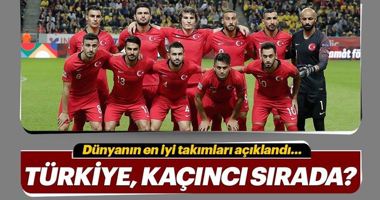 FIFA Dünya Sıralaması açıklandı! Türkiye kaçıncı sırada?