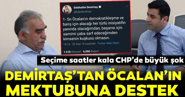 SON DAKİKA... Demirtaş'tan Öcalan'ın mektubuna destek mesajı geldi! CHP'de büyük şok!