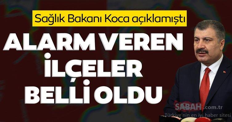 Son dakika haberi: Sağlık Bakanı Fahrettin Koca uyarmıştı! İstanbul'da koronavirüs alarmı veren ilçeler belli oldu
