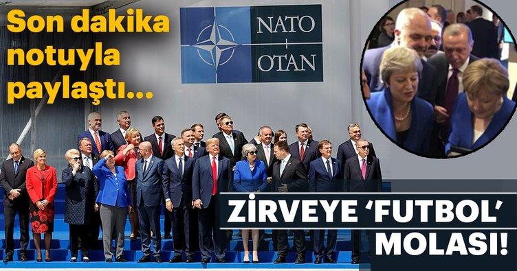 NATO zirvesine 2018 Dünya Kupası molası! Hırvatistan İngiltere yarı final mücadelesi izlendi...