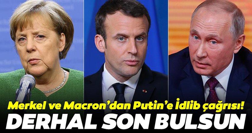 Merkel, Macron ve Putin'den kritik İdlib görüşmesi