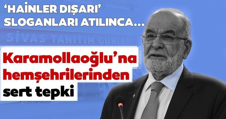 Hemşehrilerinden Karamollaoğlu'na protesto! Etkinliği terk etti