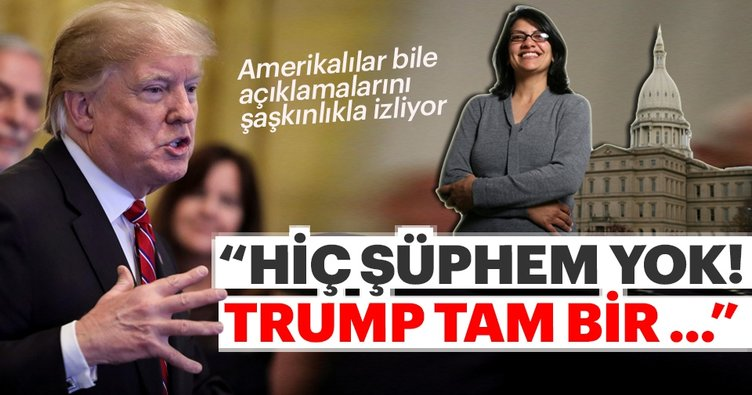 ABD'li Müslüman kadın siyasetçi Tlaib'den Trump'a suçlama