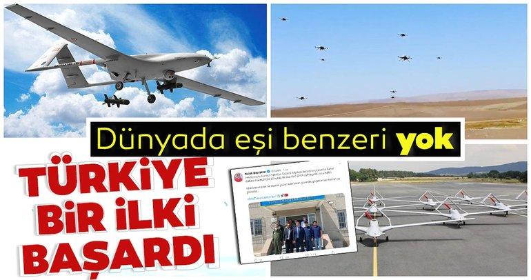 Sürü SİHA operasyonunu dünyada ilk kez Türkiye yaptı