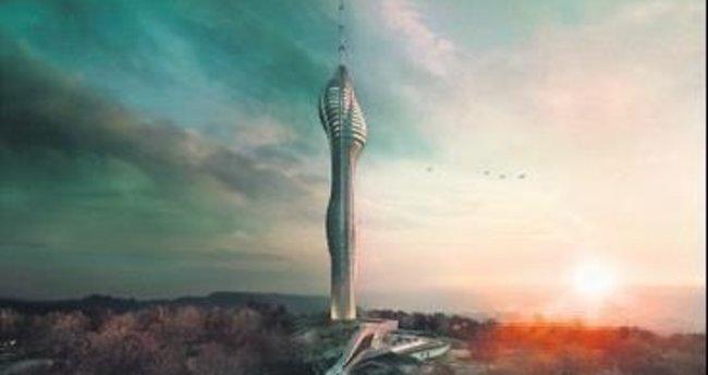 Çamlıca Televizyon Kulesi hızla yükseliyor