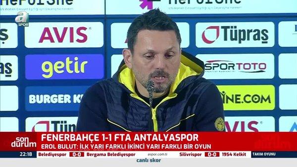 Son dakika Fenerbahçe haberleri: Erol Bulut'tan Antalyaspor maçı sonrası Mesut Özil açıklaması