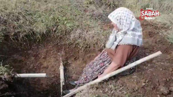 Bilecik'te tarlasını için su çukuru açan vatandaş misket bombası buldu | Video