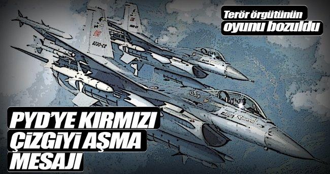 Türk jetleri PYD'yi vurdu