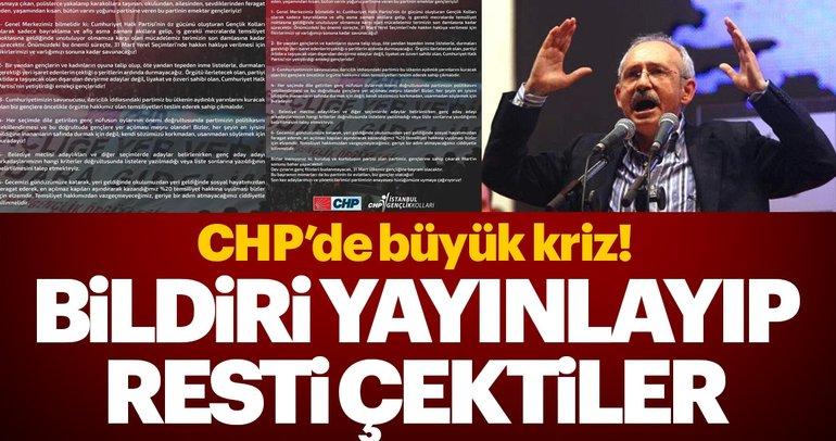 CHP İstanbul Gençlik Kolları ayaklandı! CHP'de sular durulmuyor