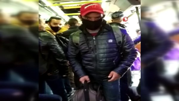 İstanbul'da corona virüsüne rağmen minibüste akılamaz görüntü   Video