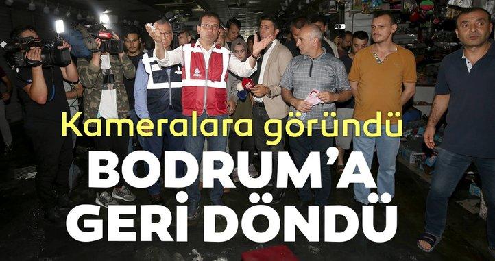 İmamoğlu yelekli şovdan sonra Bodrum'a geri döndü!