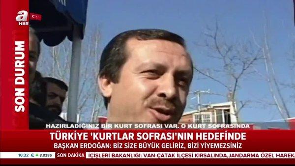 """Cumhurbaşkanı Erdoğan'dan dünyaya net mesaj """"Biz size büyük geliriz, bizi yiyemezsiniz""""   Video v..."""