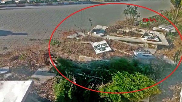 SON DAKİKA: Manisa'da mezarlıkta şoke eden olay! Güvenlik kamerası görüntüleri... | Video