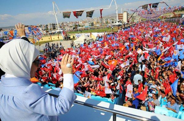 Cumhurbaşkanı Erdoğan'ın Siirt 6. Olağan İl Kongresi'nden yansıyan kareleri