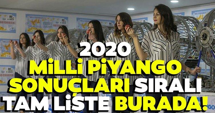 Milli piyango yılbaşı 2020 çekiliş sonuçları