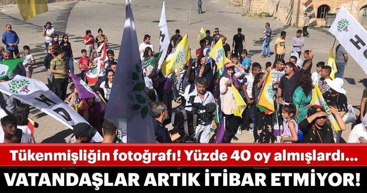 HDP Midyat'ta da hüsrana uğradı