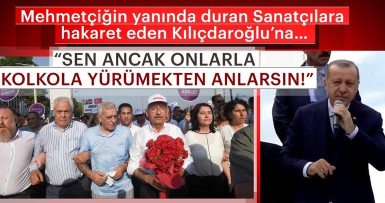 Erdoğan'dan Kılıçdaroğlu'na: O teröristlere beraber
