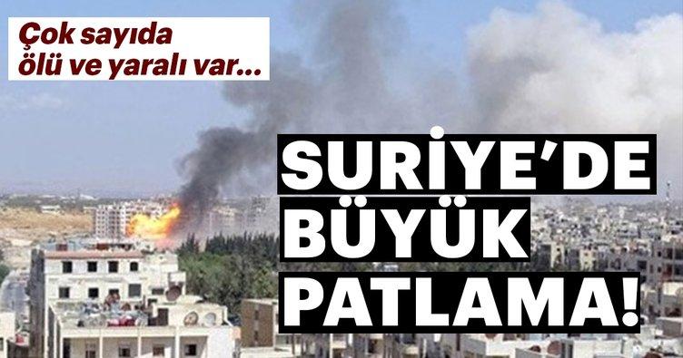 Son Dakika... Suriye'de patlama: Çok sayıda ölü ve yaralı var...