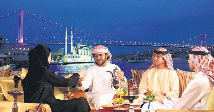 Araplar İstanbul'da bayram etti