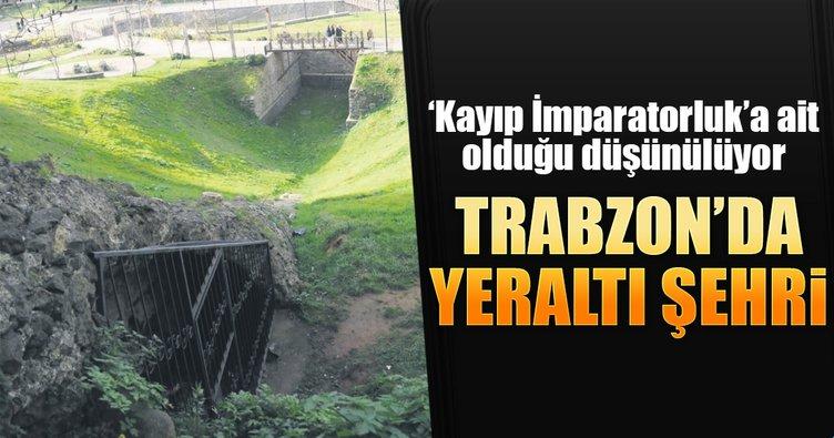 Trabzon'da yeraltı şehri