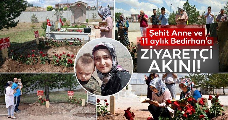 PKK'nın katlettiği anne ve bebeğinin mezarına ziyaretçi akını