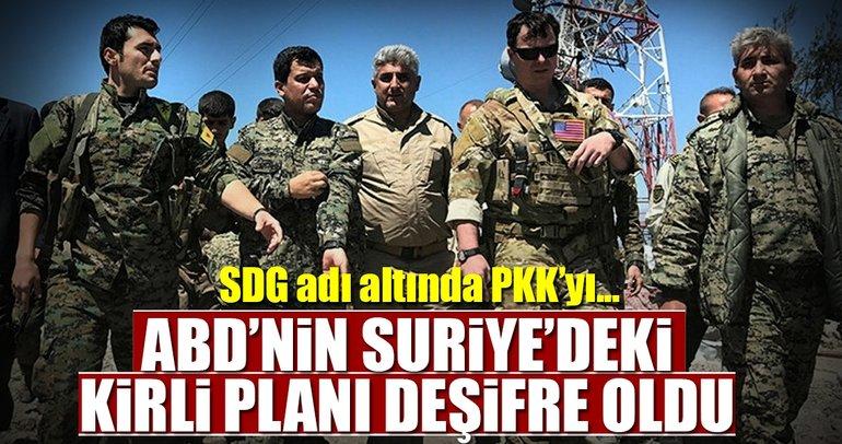 ABD ve PKK'dan Suriye'de SDG oyunu
