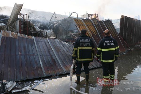 Son dakika haberi: Adana'da korkutan yangın! Geri dönüşüm fabrikasında çıkan yangın 11 aracı yuttu