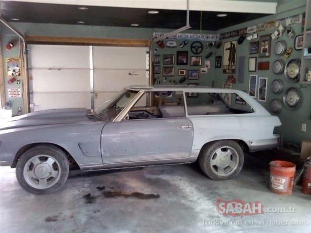 Canı sıkıldı Mercedes arabasını baştan aşağı değiştirdi! 41 yıllık araç bakın ne hale geldi...