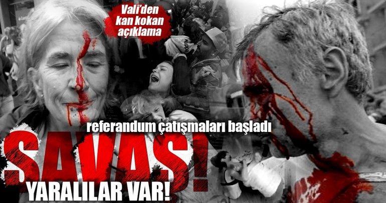 Katalonya'da yaralılar var! Vali'den açıklama geldi